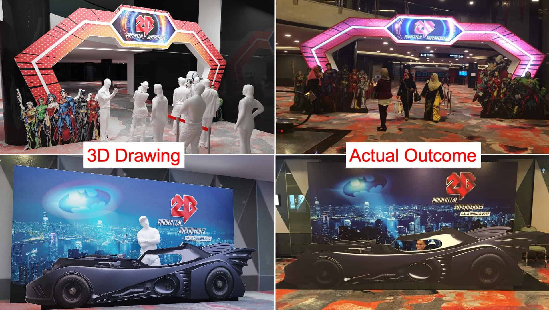 3D Drawing company Malaysia for event planning